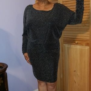 NWT silver and black sparkle dress